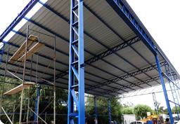 estructura metalica cubierta inclinada cheap instalacion